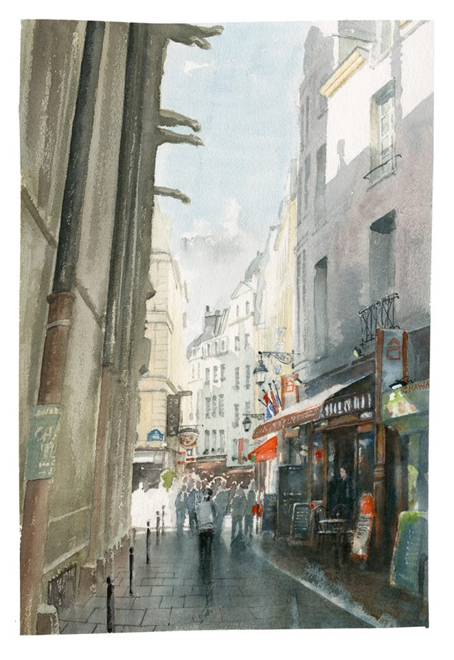 Aquarell Paris