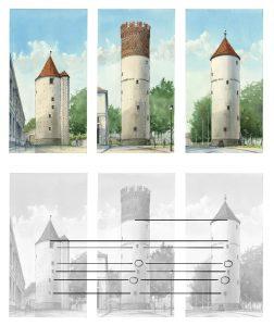 Buddenturm Münster Bild Druck Kunstdruck Jörg Hartmann