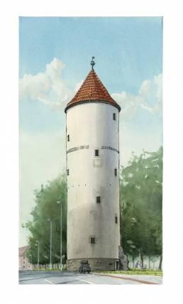 Buddenturm Münster Druck Poster Kunstdruck