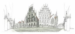 Münster Bild Prinzipalmarkt Skizze