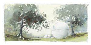 muenster Bild Bilder Zeichnung Gemälde Aquarell Aaseekugeln