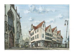Münster Trubel lamberti prinzipalmarkt