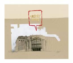 muenster Bild Bilder Zeichnung Gemälde Aquarell Erbdrostenhof