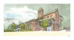 muenster Bild Bilder Zeichnung Gemälde Aquarell Germania campus