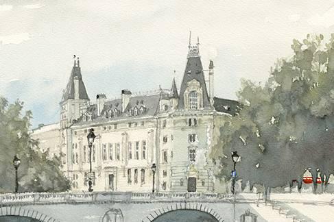 Aquarell Paris