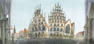 muenster Bild Bilder Zeichnung Gemälde Aquarell Prinzipalmarkt