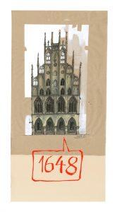 muenster Bild Bilder Zeichnung Gemälde Aquarell Rathaus