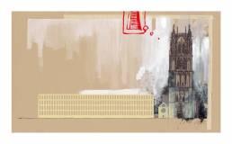 muenster Bild Bilder Zeichnung Gemälde Aquarell Überwasserkirche