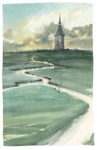 Aquarell Wangerooge