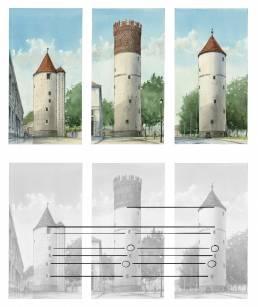 Münster Bild Poster Druck Kunstdruck Buddenturm