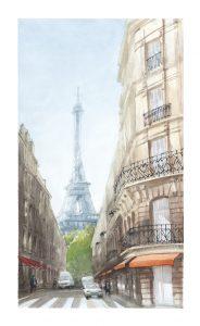 Paris Kunstdruck Eiffelturm Aquarell